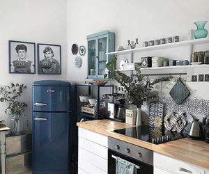 blue and kitchen image