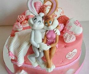 cake and bugs bunny image