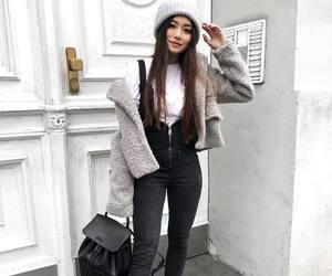 black, fashion, and overalls image