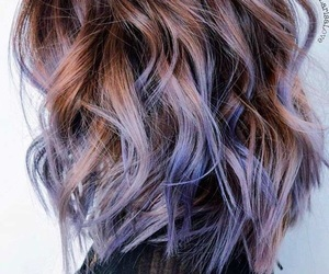 haircut, purple, and violet image
