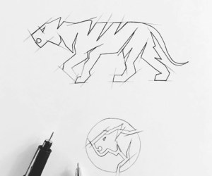 animals, brands, and drawing image