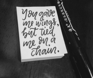 chain, poetry, and wings image