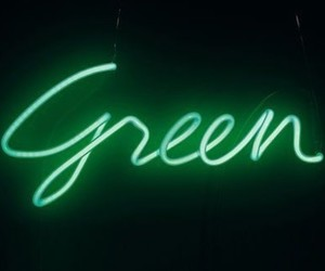 green, neon, and black image