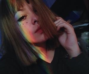 girl, rainbow, and aesthetic image