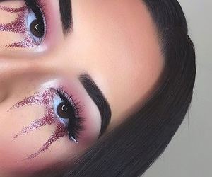 aesthetic, dripping, and eyebrows image