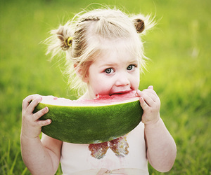 baby, nature, and watermelon image