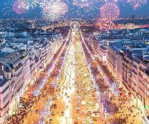 fireworks, france, and new year image