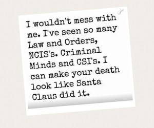 law and order, ncis, and santa claus image
