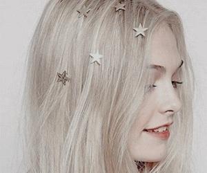 girl, stars, and hair image