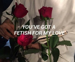 fetish, rose, and love image