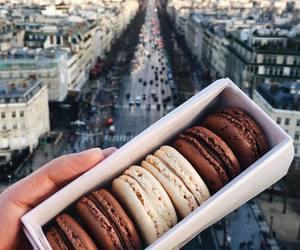 food, macaroons, and paris image