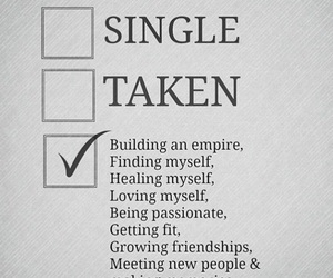 single, taken, and quotes image