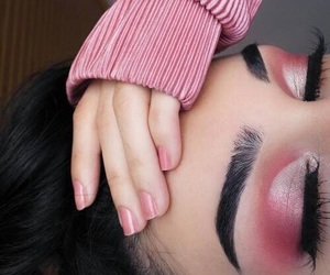 makeup, pink, and girl image