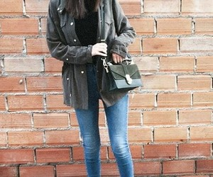 beautiful, clothes, and green coat image