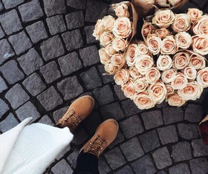 flowers, rose, and style image