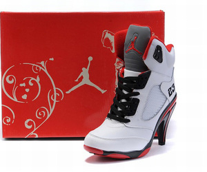 ugly and nike air jordan v 5 heels image