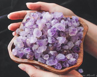 etsy, amethyst point, and amethyst crystals image