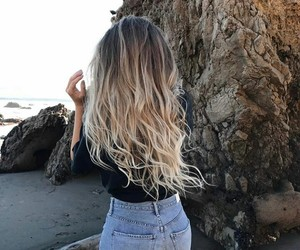 hair and beach image