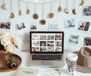 desk, book, and decor image