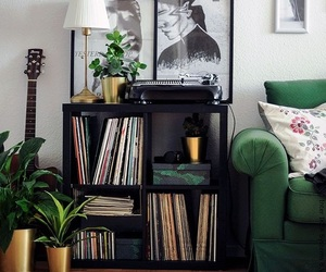 candles, sofa, and vinyls image