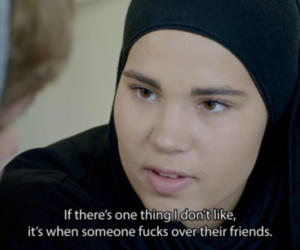 quote, show, and skam image