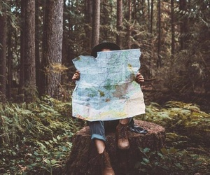 adventure, map, and travel image