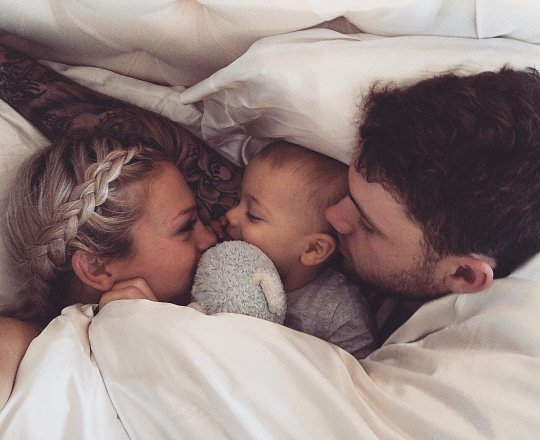 baby, mummy, and family goals image