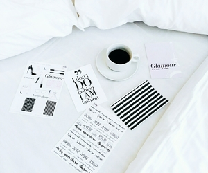 blackandwhite, planner stickers, and coffee image