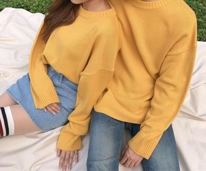 ulzzang, yellow, and fashion image
