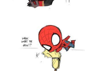 deadpool, spiderman, and funny image