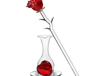 gifts, rose, and glass vase image