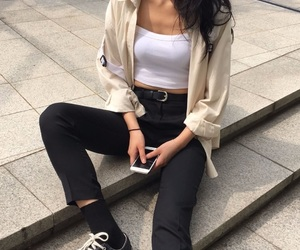 black, chic, and converse image