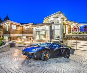 mansions, beautiful, and car image