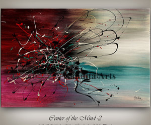 abstract art, Abstract Painting, and landscape art image