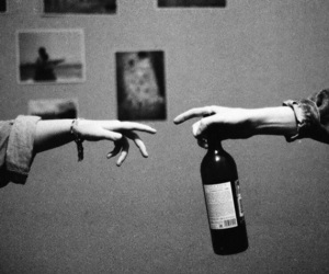 wine, young, and love image