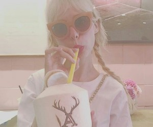 coconut, pink, and glasses image