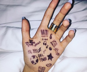 hand, madison beer, and nails image