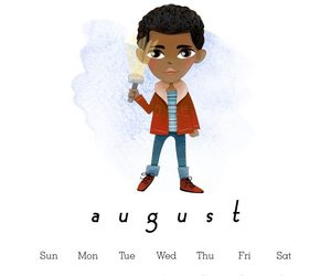stranger things, August, and caleb image