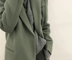 coat, green, and grey image