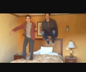 bed, jump, and best moments image