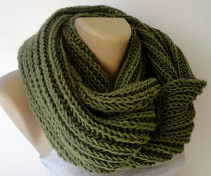 etsy, chunky scarf, and knitted scarf image