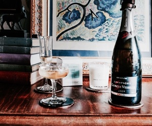 drink, champagne, and aesthetic image