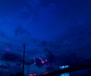 blue, clouds, and dark image