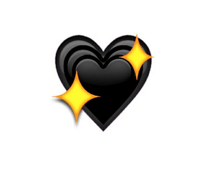 black, heart, and emoji image