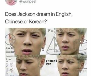 funny, jackson, and kpop image