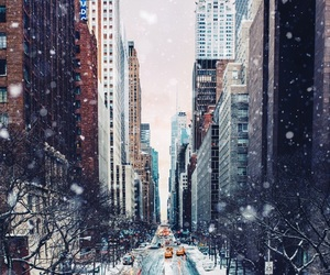 city, winter, and photography image