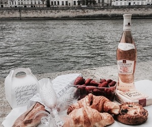 food, croissants, and drinks image
