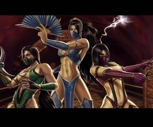 jade, kitana, and mortal image