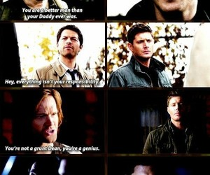 actor, crowley, and dean winchester image