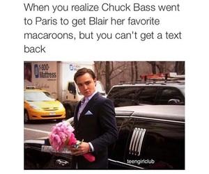 chuck bass, gossip girl, and blair image